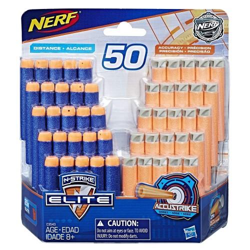 Набор стрел Nerf Elite и AccuStrike - 50 шт.