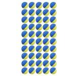 Набор шаров Nerf Rival 50 шт. (желто-синие)